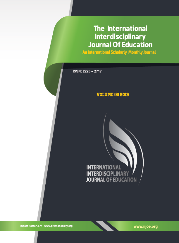 IIJE, Issue 8, Vol.8, August 2019